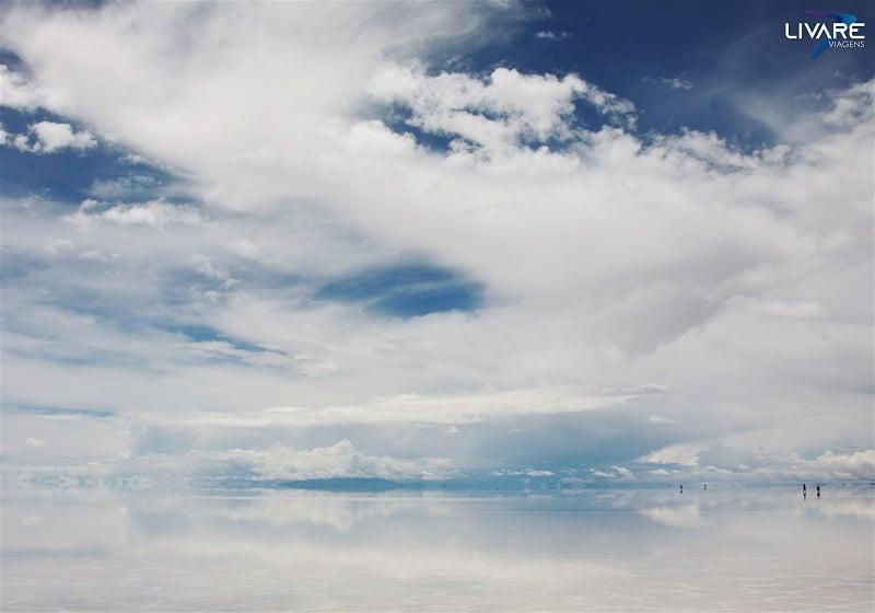 paisagem salar de uyuni na bolivia vista do céu